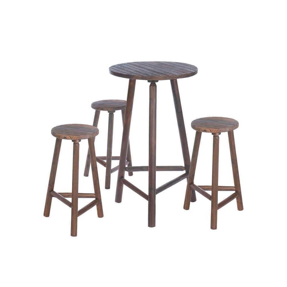 Акцент плюс деревянный стол бар и барные стулья, набор