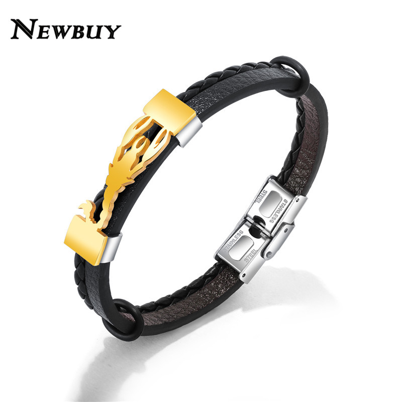 HASYH 18 Colors Charm Leather Bracelets for Women /& Men Multiple Layers Wrap Bracelets Couple Gifts Fashion Jewelry Wholesale Black 18cm