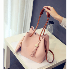 Women Leather Handbags Luxury Designer Women Crossbody Bags High Quality Casual Totes Bag New 2017 Tassel