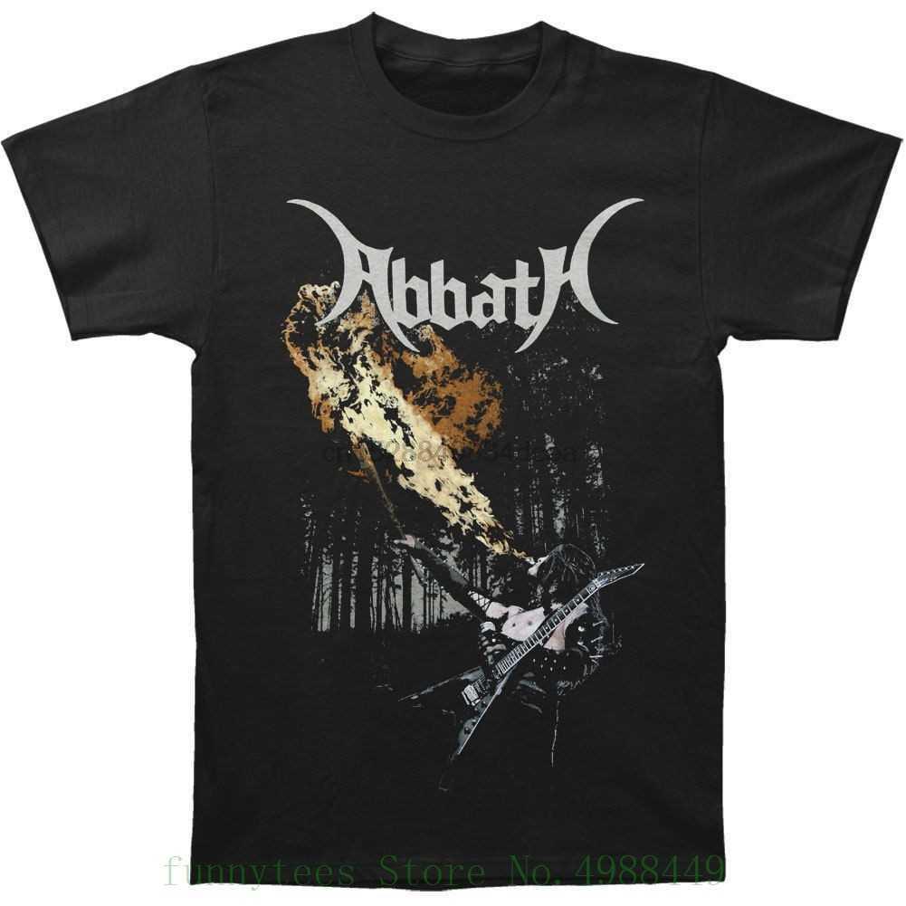 Abbath-호흡 화재 T 셔츠-크기 작은 S-블랙 메탈-불멸의 슬리브 남자 커플 패션