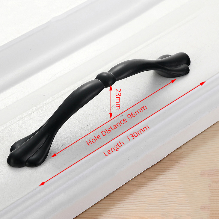 NAIERDI черные ручки шкафа американский стиль твердый алюминиевый сплав кухонный шкаф ручки для выдвижных ящиков оборудование для обработки мебели - Цвет: Handle-LS901C-96