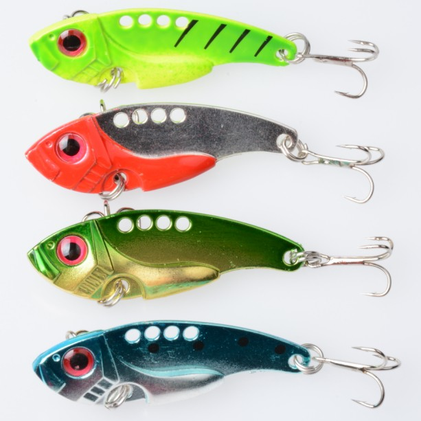 20pcs new Fishing Lure Blade Metal VIB Hard Bait Bass Walleye Crappie 11G 5.5CM Fishing Tackle With 8# Hools new bluetooth tri spinner fidget toy plastic edc hand spinner for autism and adhd anxiety stress relief focus toys kids gift