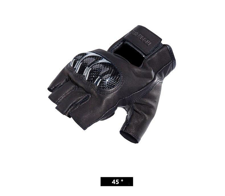 ROCK Motorcycle Gloves Leather for Harley Carbon Retro Summer Short Men Racing Riding Glove Guantes Moto luvas da motocicleta