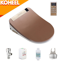 KOHEEL LCD Intelligent Toilet Seat Washlet Elongated Electric Bidet Cover Smart Bidet Heating Sits Led Light