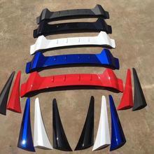 ABS углеродного волокна Цвет R Стиль Защита от солнца на заднее стекло авто крыши спойлер, диффузор для Honda Civic 4Dr для седан