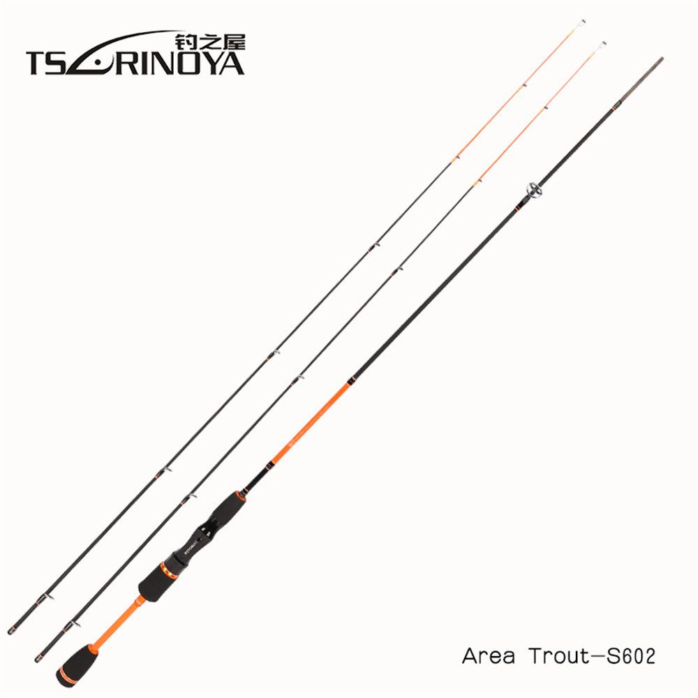 TSURINOYA Lure Weight 0.6-8g Ultra Light Night Fishing Spinning Rod 1.8m UL+L 2 Luminous Tips Carbon Carp Spinning Fishing Rods