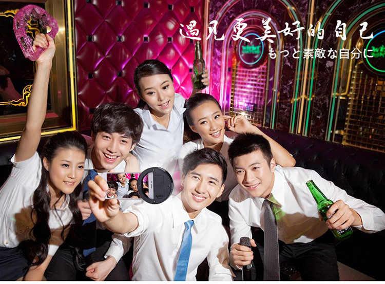 Selfieリングミラー化粧ケースhuawei社p10 liteプラスy3 y5 2017 y7アセンドxt ledライトフラッシュアップandroid携帯電話カバー
