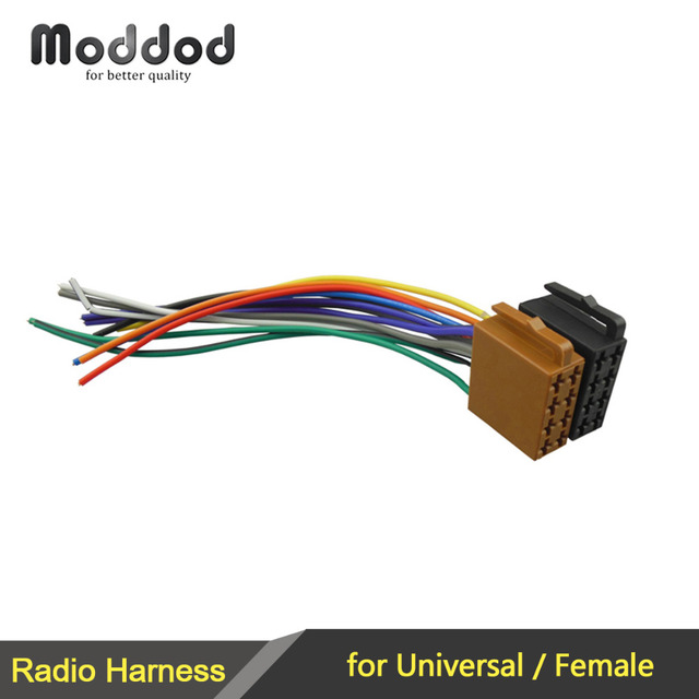 Universal/Female Car Radio Wire Cable Wiring Harness Stereo Adapter ...