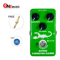 JOYO JF 10 Electric Bass Dynamic Compressor Effect Pedal True Bypass Ross Compressor with pedal connector and Mooer knob