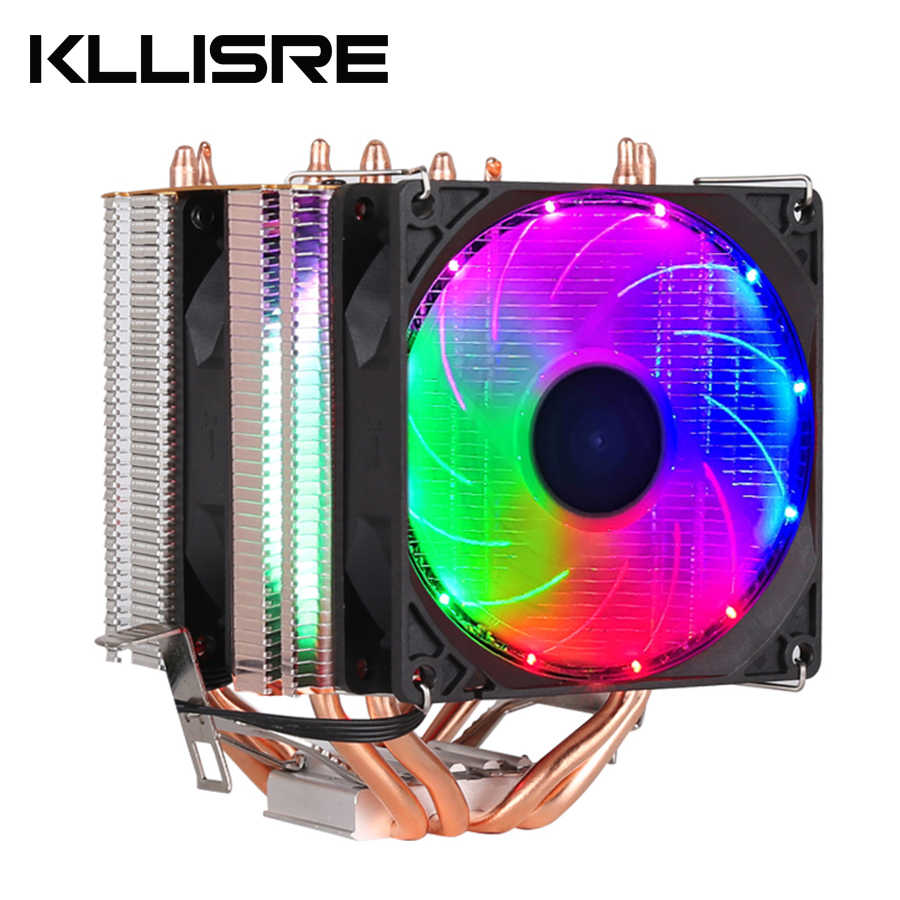 CPU cooler High quality 4 heat-pipes dual-tower cooling 9cm RGB fan support 3 fans 3Pin CPU Fan for Intel and For AMD