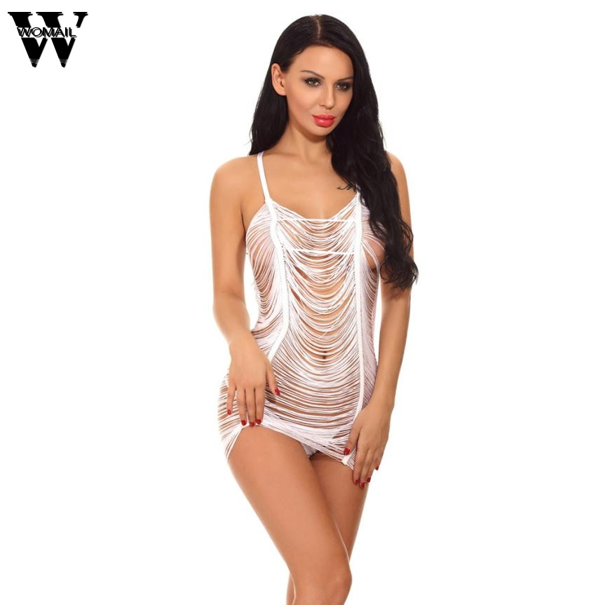 2018 summer sexy sleepwear women nightgowns tassel Halter Sleepwear Set With Thong JAN10