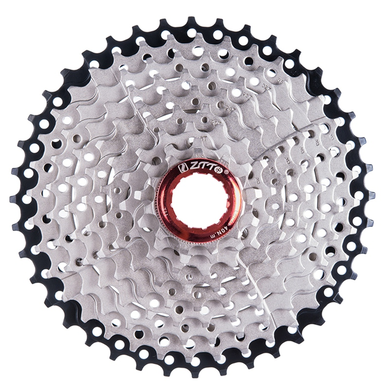 Ztto 9 Speed Cassette 11-40 T Wide Ratio Freewheel Mountain Bike Mtb Bicycle Cassette Flywheel Sprocket Compatible With Sunrac
