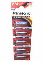 5pcs Panasonic 27A A27 12V Alarm-Remote Dry Alkaline Battery Cells 27AE 27MN High Capacity Car Remote Toys Calculator DoorBe
