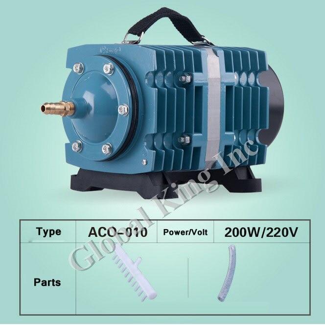 135L/min Commercial Magnetic Air Pump 16 Outlet Hydroponic Aquarium Pond 200W