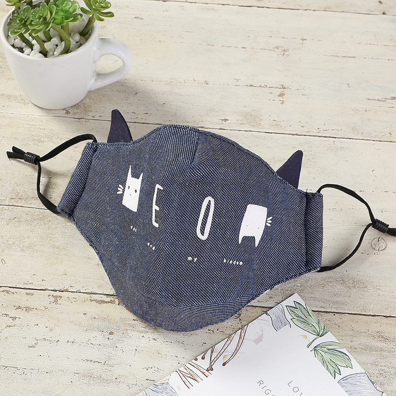 Bekleidung Zubehör 10 Teile/lose Mode Gedruckt Bogen Modal Baumwolle Mickey Label Kind Maske Mode Karton Masken Staub-proof Kleines Mädchen Jungen Maska