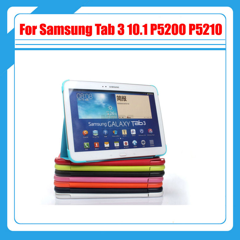 3 in 1 , Business Tablet Cover Case For Samsung Galaxy Tab 3 10.1 P5200 P5210 + Screen Film + Stylus