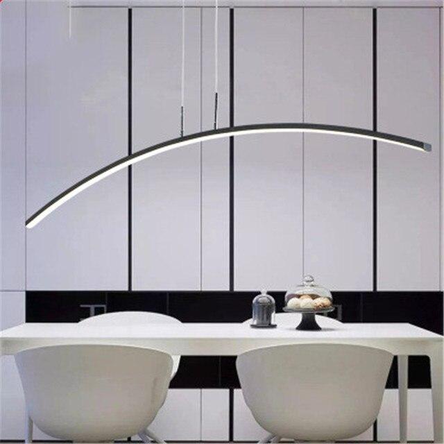 Araña de restaurante nórdico lámpara mesa comedor minimalista Led  personalidad creativa Barra salón suspensión
