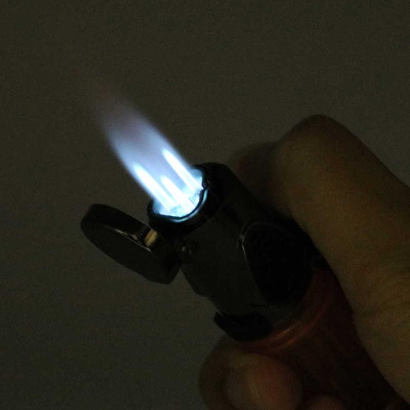 Ветрозащитный факел пламени поездки многоразового бутановые зажигалки сигарета зажигалка