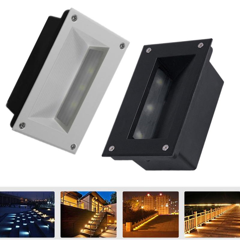 Lights & Lighting Latest Collection Of 3x3w Recessed Led Stair Light Ac85-265v/dc12v Indoor/outdoor Corner Wall Lights Step Decoration Lamp Hallway Staircase Lamps More Discounts Surprises Led Lamps