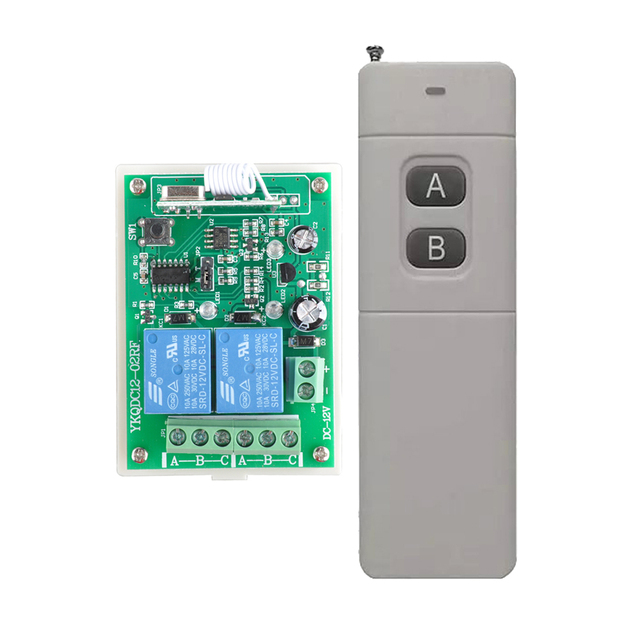 Aliexpress com : Buy Wireless Remote Control Switches 12V DC 2CH Relay RF  Receiver Long Range Transmitter 300 3000m Momentary Toggle Latched 315/433M