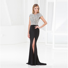 2017 vestido de festa Mermaid Black prom dresses Long Evening Dress Prom Dress robe de soiree party gown custom made