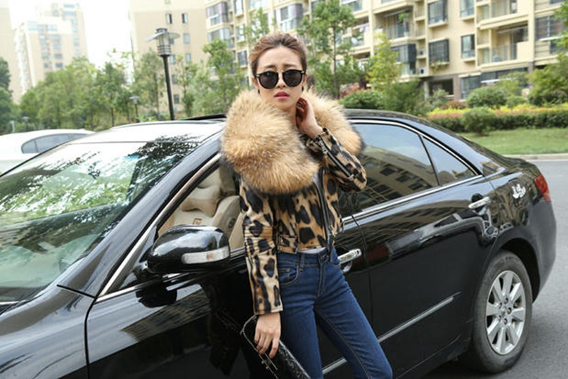 leopard color jacket genuine sheepskin (3)