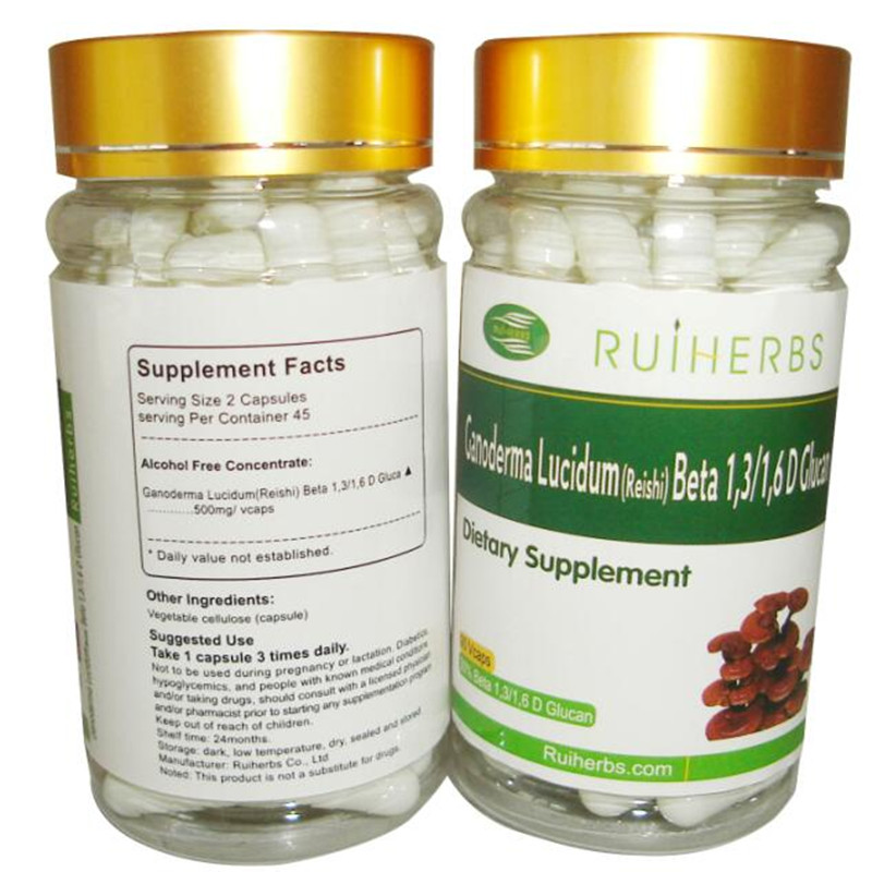 3Bottles Reishi Extract 30% Beta Glucan 500mg x 270count Caps free shipping valerian root extract 500mg 50 capsules free shipping