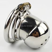 NEW Small Male Chastity Cage Penis Lock With Spiked Ring Sex Toys Stainless Steel Chastity Device For Men Cock Cage