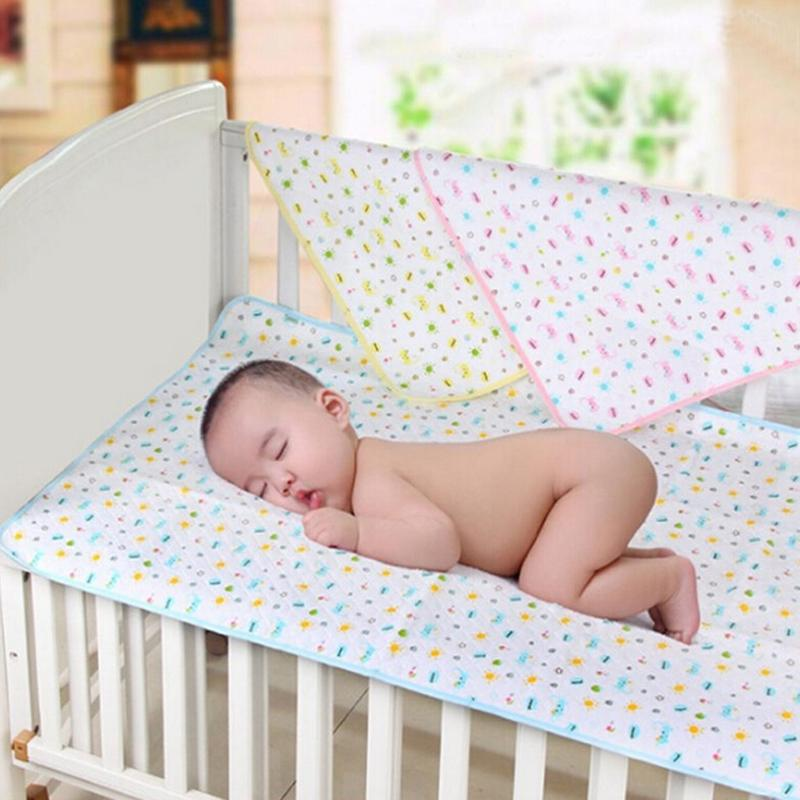 Fit Reusable Washable Baby Infants Waterproof Urine Mat Cover Changing Pad Cotton Blue Pink Yellow Selectable