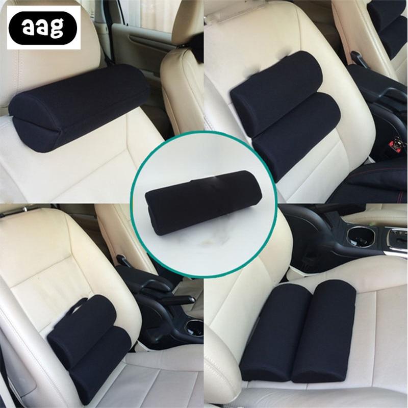 Solid Lumbar Back Support Roll Protector Pillow Cushion Home Office Chair Car Seat Waist Lumbar Back Relaxing Massager Pillow