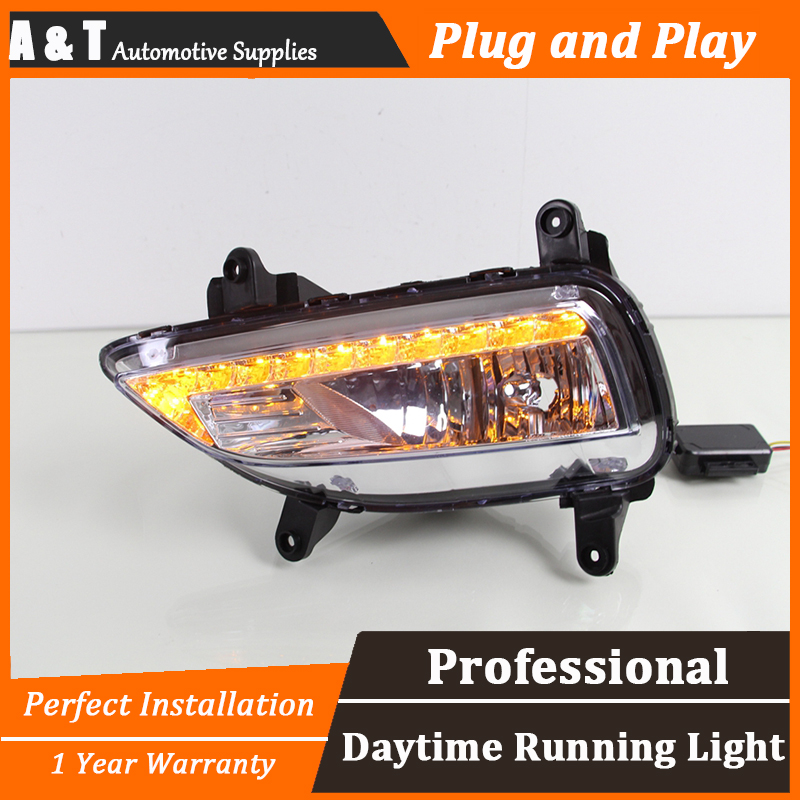 car styling For Kia forte LED DRL For Kia forte led fog lamps daytime running light High brightness guide LED DRL for lexus rx gyl1 ggl15 agl10 450h awd 350 awd 2008 2013 car styling led fog lights high brightness fog lamps 1set