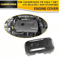 Carbon Fiber Add On Racing Front Engine Bonnets Cover for Volkswagen VW GOLF 7 MK7 GTI Hatchback Only 2014 2017 Non Standard