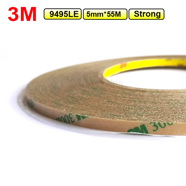 (5mm*55M*0.17mm) 3M Super Strong Double Sided Adhesive Tape Transparent for Phone Tablet Touch Screen Lens LCD, Waterproof