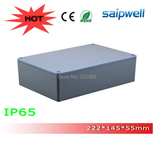 2015 Hot sale IP65 Extruded Aluminium Electronic Enclosure with 4 screws 222*145*55mm High Qulity