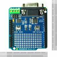 Diy RS232/485 Shield For Arduino RS232 RS485 communication module