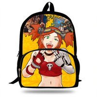Cartoon Borderlands 2 Character Tiny Tina Zero Schoolbag For School Girls boys Jack printing Handsome Backpack For Kids Students