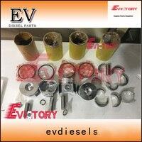 For Kubota V2403 V2403M engine rebuild kit piston+ring+liner+gasket+bearing+crankshaft+con rod