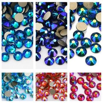 QIAO 2088 Cut SS16 Many Colors Flat back nail art deco non hotfix rhinestones for Rhinestone & Decoration glue on stone 2