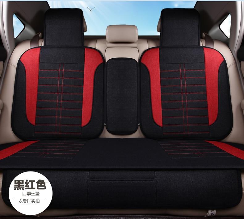 3D Styling Flax Car Seat Cover All-inclusive Car Seat Cover For Audi A1 A3 A4 A6 A7 B8 B7 B6 B5 C6 C7 A8 A8L Q3 Q5 Q7 custom fit full cover car floor mats for audi a6 c5 c6 c7 a4 b6 b7 b8 allroad avant all weather waterproof car styling liners