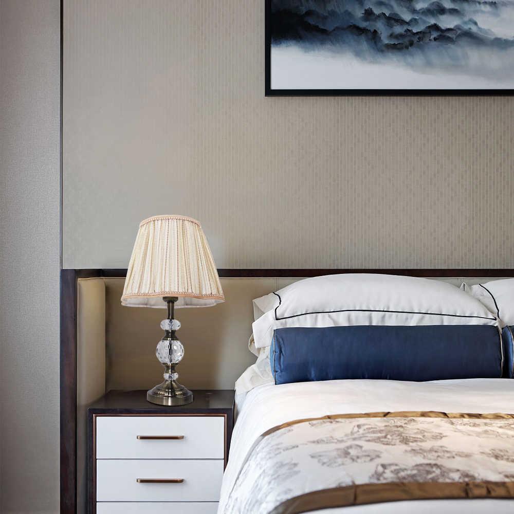 Современный Art Deco ткани с украшением в виде кристаллов настольная лампа в винтажном стиле E27 светодиодный 220 В настольная лампа для чтения прикроватные домашнего декора гостиной офиса отель Бар