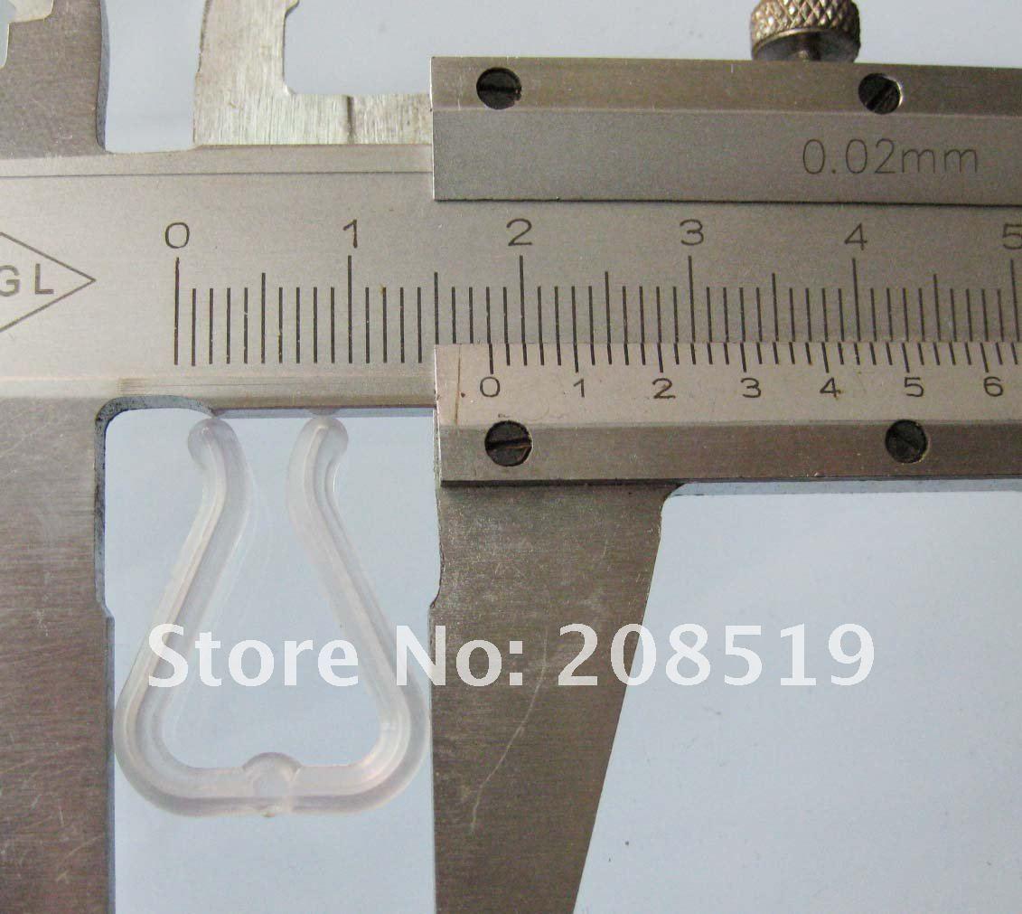 SC012 зажимы для рубашки 100 шт U форма 18 мм* 23 мм носок/шляпа пакет прозрачные пластиковые зажимы аксессуары для одежды