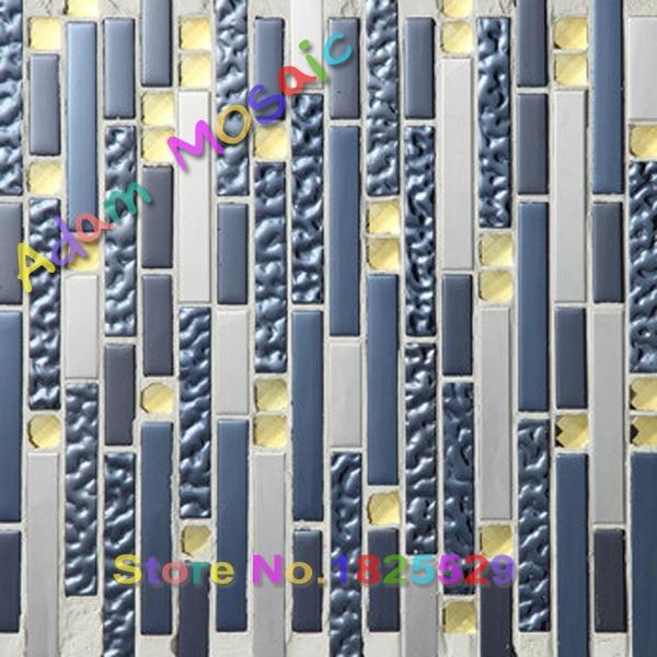 Blau Küche Glasfliese Backsplash Spiegel Bad Wandfliesen U Bahn Streifen  Fliesen Dusche Badewanne Kamin Blätter