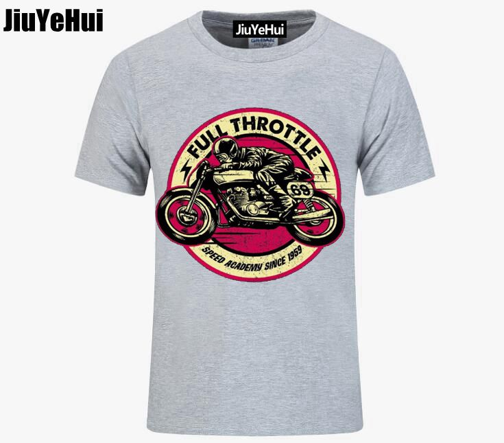 Men TShirt Outwears Popular Design Hip Hop Anime Male T Shirt FULL THROTTLE CAFE RACER Special Edition ROCKABILLY BIKER Vintage ...