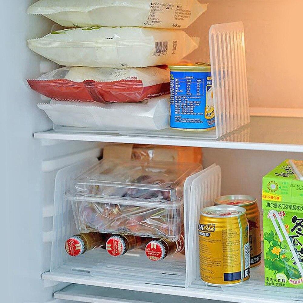 Экономьте пространство, кухонный Органайзер, пластиковый холодильник, пивная банка, органайзер, подставка для хранения, регулируемый холод...