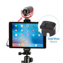 Ulanzi Professional Aluminum Tripod Mount Adapter Tablet Clamp Holder for iPad Pro Mini 1/4″-20 thread Cold Shoe Mount Light Mic