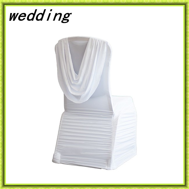 Marious Brand 5pcs 10pcs ,white spandex ruffled chair cover with valance wedding chair cover decor chair cover free shipping