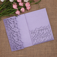 40pcs/pack Glitter Wedding Invitation Card Cover Leaves Shinny Paper Carved Invitations Birthday Baptism Cards Festival Party