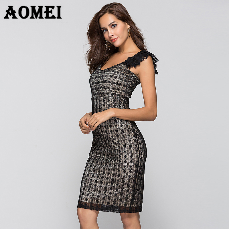 9004ecaf61 Women Sun Dress Black Lace Summer New Tight Bandage Dresses Evening Party  Sexy Dresses Club Wear Nightout Female Vestidos Robes-in Dresses from  Women s ...