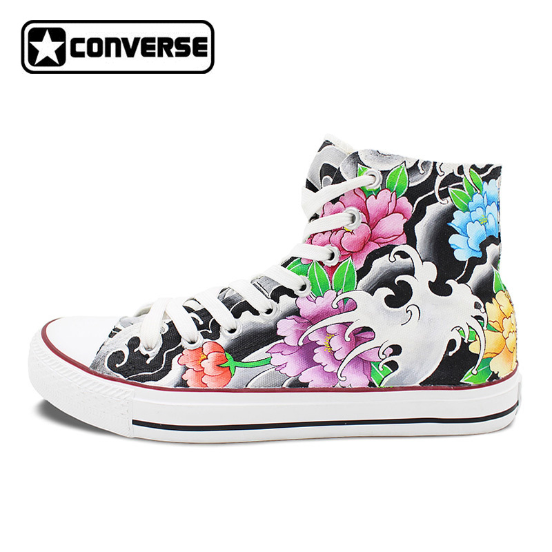 Original Design Converse Chuck Taylor Tattoo Shoes Women Men Hand Painted High Top Canvas Sneakers Skateboarding Shoes lg