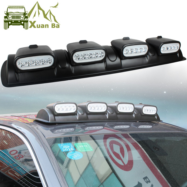 XuanBa 100W LED Light Bar DRL 12V Car Discovery Roof Lights SUV Dome Light  4x4 Offroad